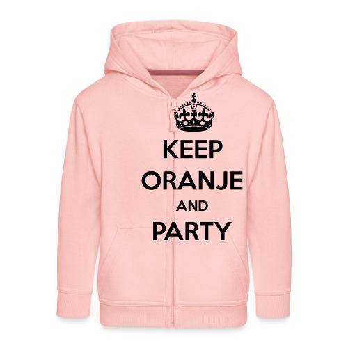 KEEP ORANJE AND PARTY - Kinderen Premium jas met capuchon