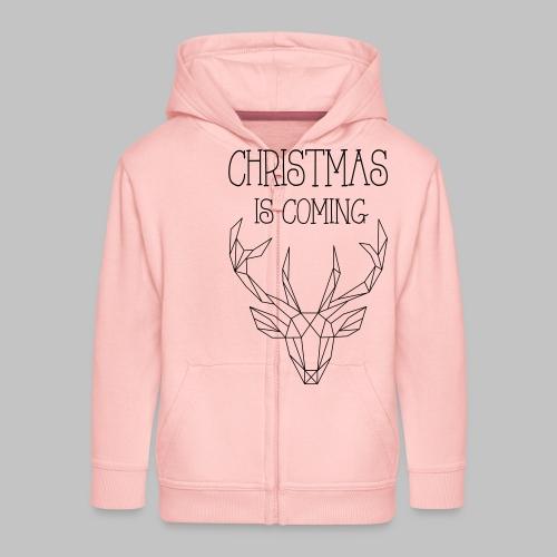 Deer Christmas - Kids' Premium Zip Hoodie