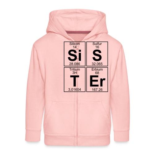 Si-S-T-Er (sister) - Kids' Premium Zip Hoodie