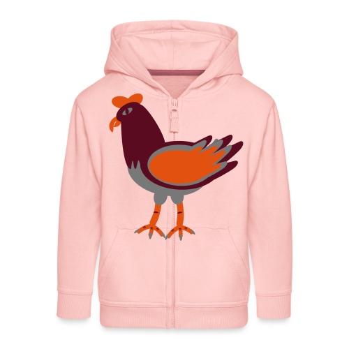 Cock.svg - Felpa con zip Premium per bambini