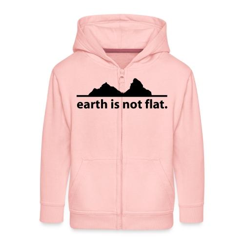 earth is not flat. - Kinder Premium Kapuzenjacke