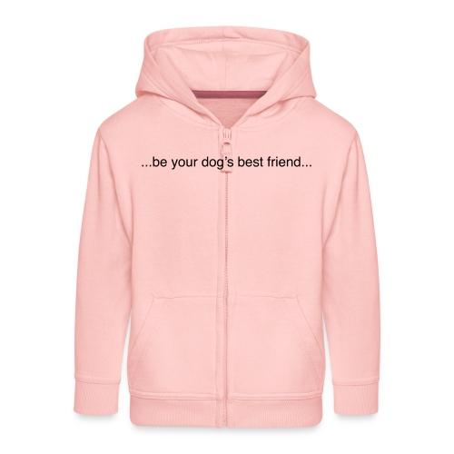 GoodBad svart CMYK (1) - Kids' Premium Hooded Jacket