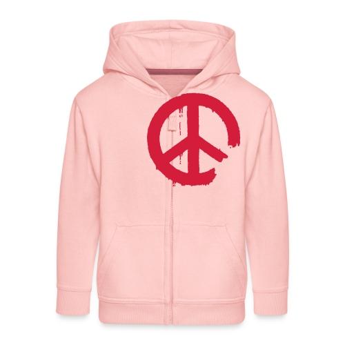 PEACE - Kinder Premium Kapuzenjacke