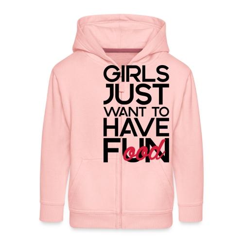 Girls just want to have food - Kinderen Premium jas met capuchon