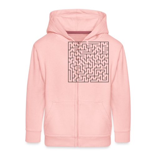 SQUARE MAZE - Kids' Premium Zip Hoodie
