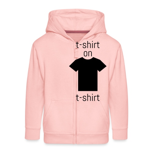 double t-shirt - Kinder Premium Kapuzenjacke