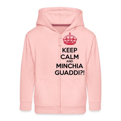 Minchia guaddi Keep Calm - Felpa con zip Premium per bambini