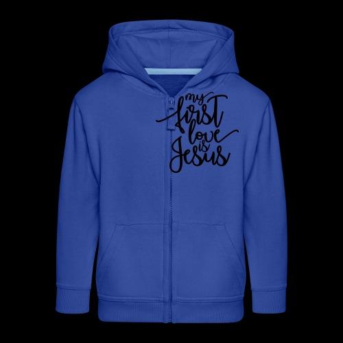 My fist love is Jesus - Kinder Premium Kapuzenjacke