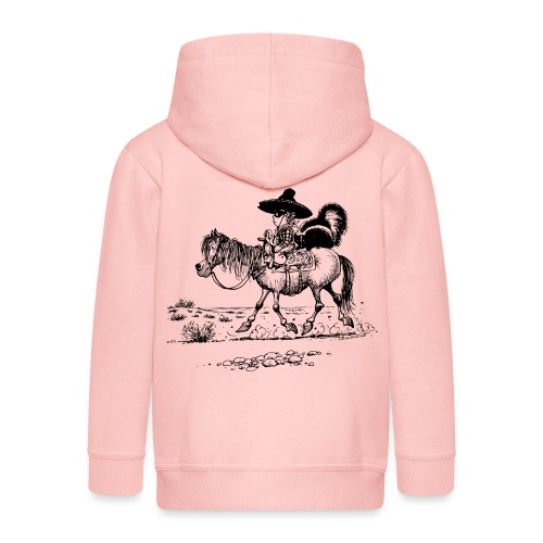 Thelwell 'Cowboy with a skunk' - Kids' Premium Zip Hoodie