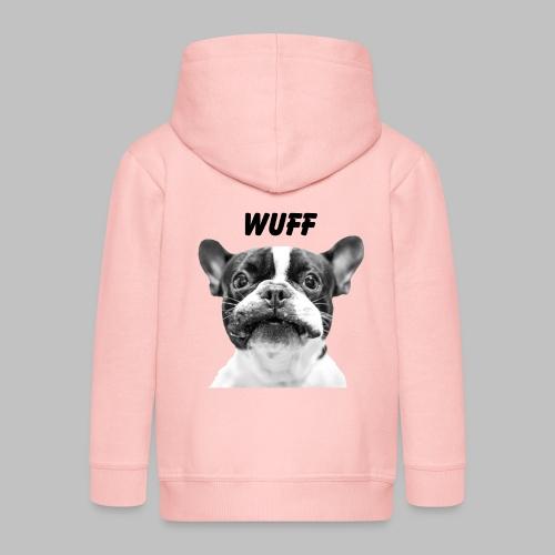 Wuff - Hundeblick - Hundemotiv Hundekopf - Kinder Premium Kapuzenjacke