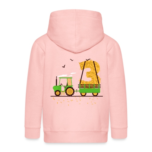 Traktor mit Anhänger 3. Geburtstag Geschenk Drei - Kinder Premium Kapuzenjacke