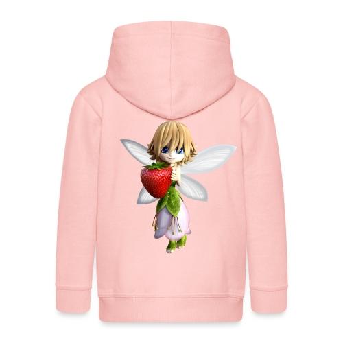 Strawberry - Fairy - Kinder Premium Kapuzenjacke
