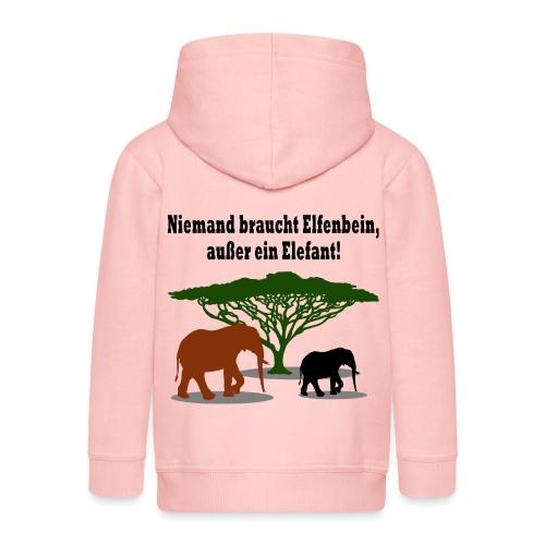Niemand braucht Elfenbein, außer ein Elefant! - Kinder Premium Kapuzenjacke