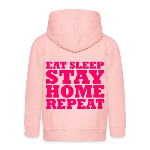 STAY HOME - Kinder Premium Kapuzenjacke