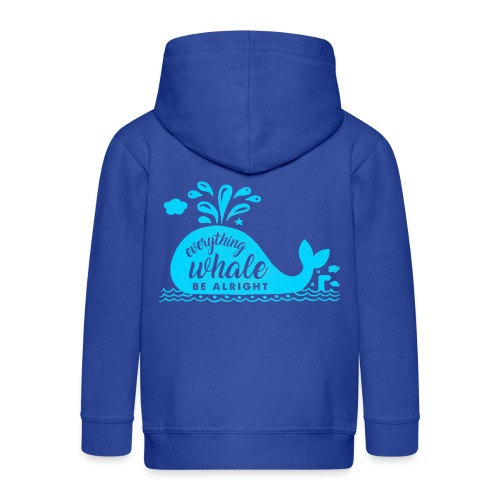 Everything Whale Be Alright - Veste à capuche Premium Enfant