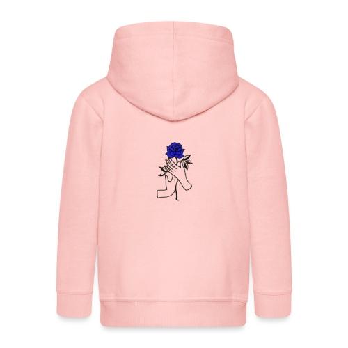 Fiore blu - Felpa con zip Premium per bambini