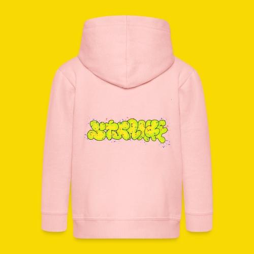 Strange Graffiti - Rozpinana bluza dziecięca z kapturem Premium
