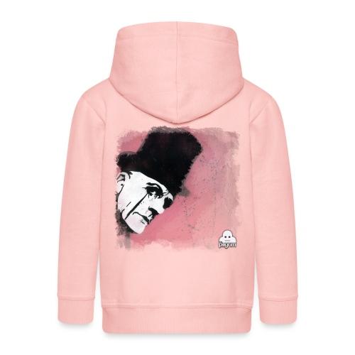 Love a bit of pink - Kids' Premium Zip Hoodie