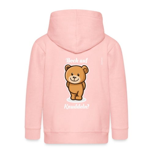 Teddybär - Bock auf Knuddeln? white-on-black - Kinder Premium Kapuzenjacke