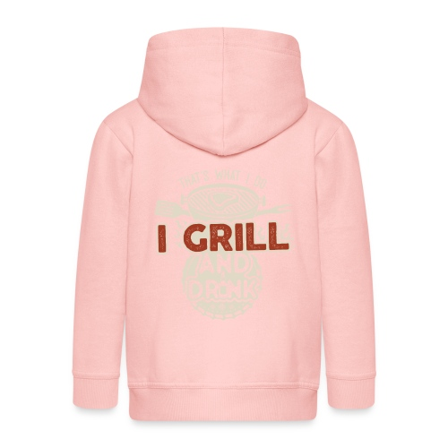That's what I do: I Drink and Grill - Felpa con zip Premium per bambini