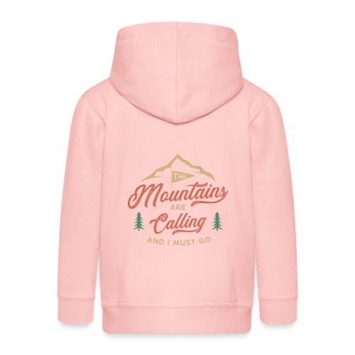 Mountains Are Calling - Felpa con zip Premium per bambini