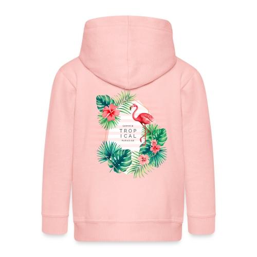 flamingo4 - Rozpinana bluza dziecięca z kapturem Premium