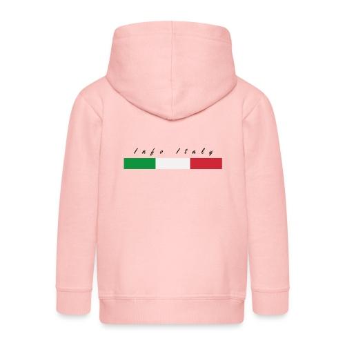 Info Italy Design - Felpa con zip Premium per bambini