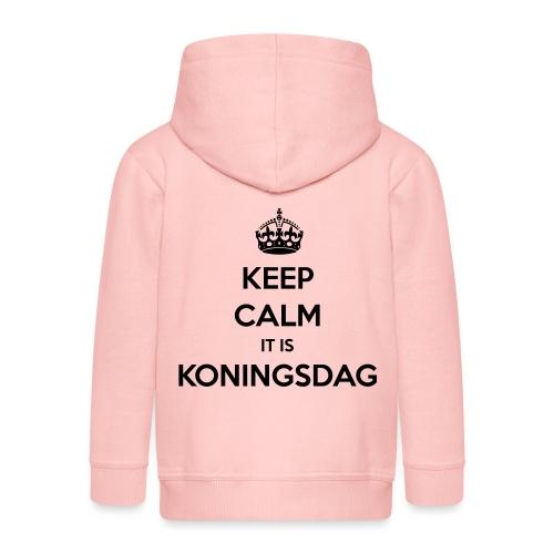 KEEP CALM IT IS KONINGSDAG - Kinderen Premium jas met capuchon