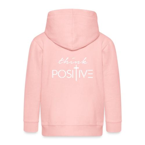 Think positive 1B - Felpa con zip Premium per bambini