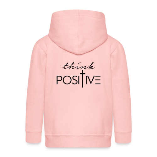Think positive 1N - Felpa con zip Premium per bambini