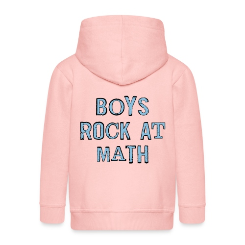 Boys Rock At Math - Kids' Premium Zip Hoodie