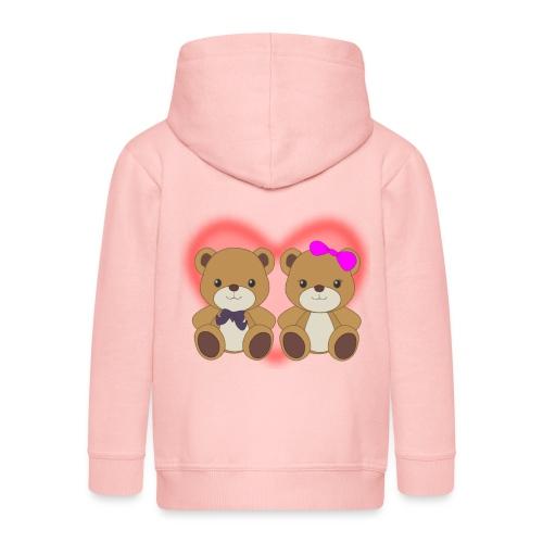 Orsetti con cuore - Felpa con zip Premium per bambini