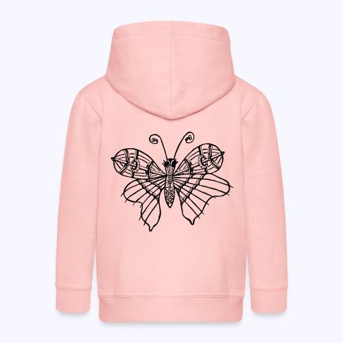 Schmetterling schwarz - Kinder Premium Kapuzenjacke