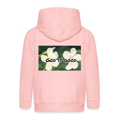 God is good - Kids' Premium Hooded Jacket