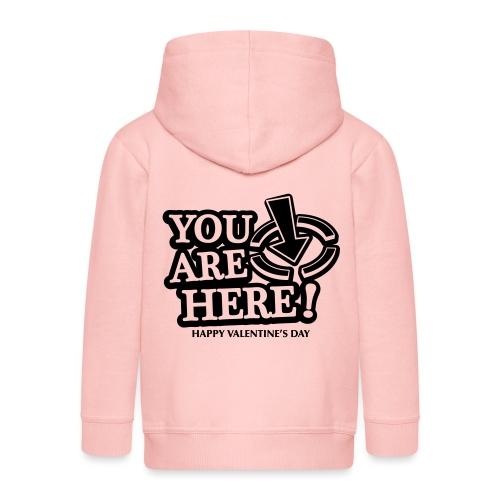 bbb youarehere love - Kids' Premium Hooded Jacket