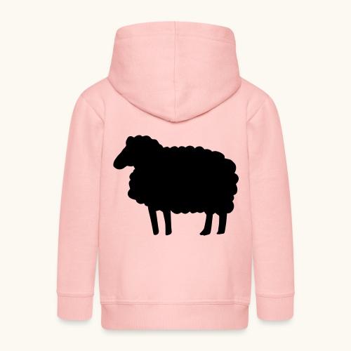 Farbe anpassbar Lustiges Schaf Silhouette Geschenk - Veste à capuche Premium Enfant