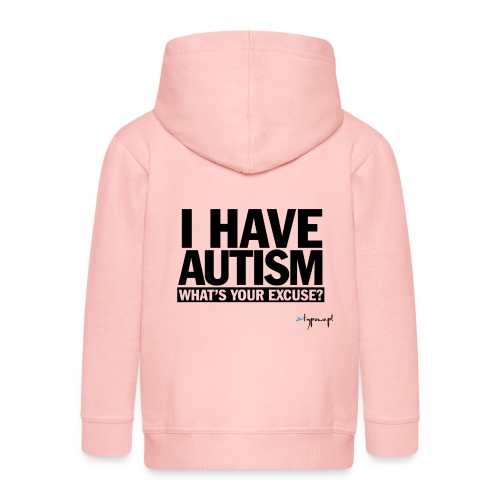 I have autism... (black) - Rozpinana bluza dziecięca z kapturem Premium