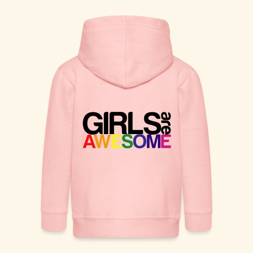 Girls are awesome - Rozpinana bluza dziecięca z kapturem Premium