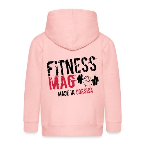 Fitness Mag made in corsica 100% Polyester - Veste à capuche Premium Enfant