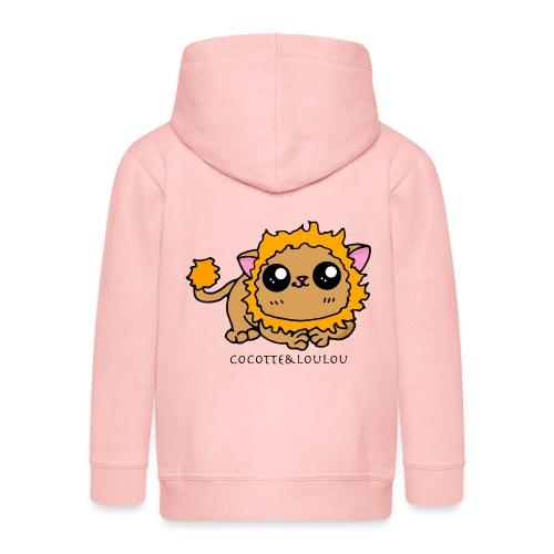 kawou le lion - Veste à capuche Premium Enfant