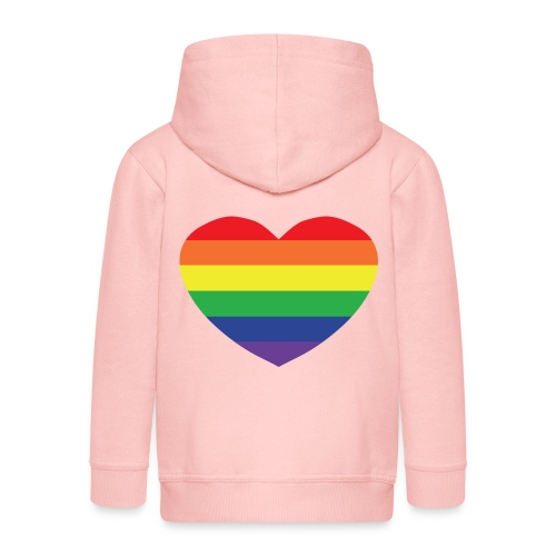 Rainbow heart - Kids' Premium Hooded Jacket