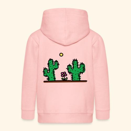 Cactus - Felpa con zip Premium per bambini