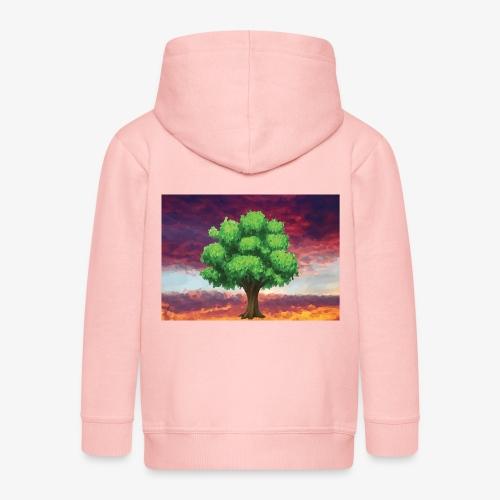 Tree in the Wasteland - Kids' Premium Zip Hoodie