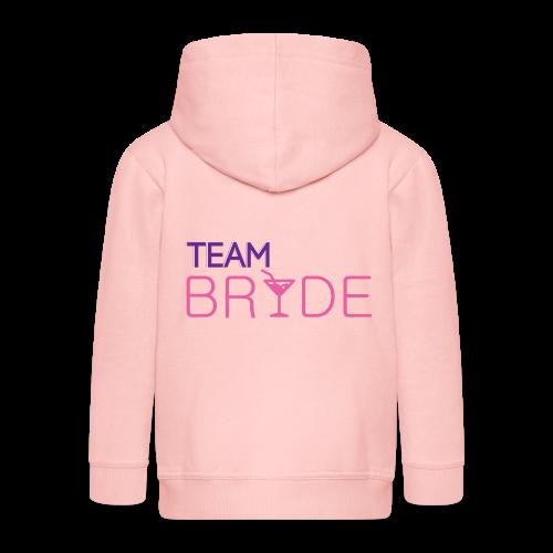 Team Braut | Junggesellinnenabschied Party - Kinder Premium Kapuzenjacke