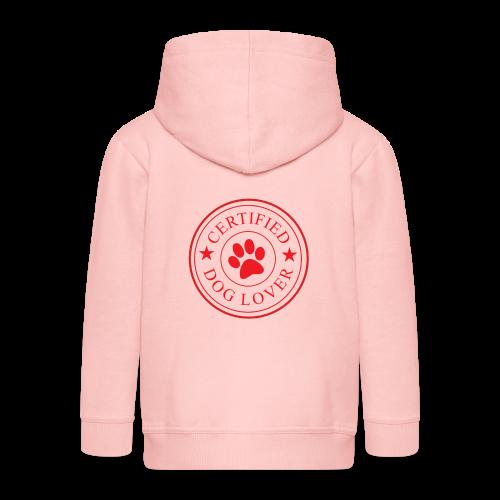 Zertifizierter Hundeliebhaber | Hund Liebe Dog - Kinder Premium Kapuzenjacke