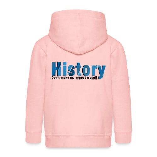 Blue Repeat History - Kids' Premium Zip Hoodie