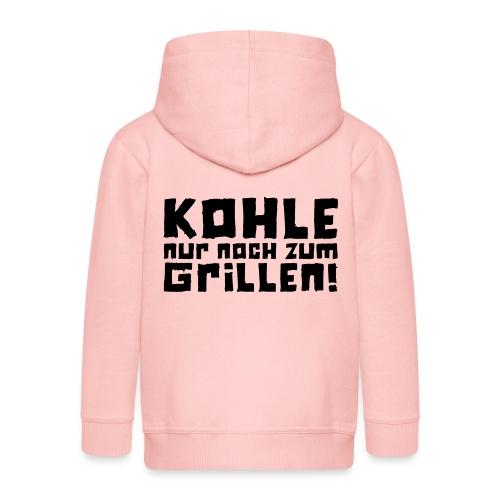 Kohle nur noch zum Grillen - Logo - Kinder Premium Kapuzenjacke