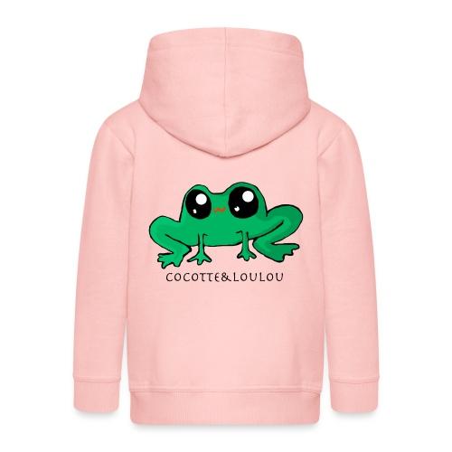 Ernestine la grenouille - Veste à capuche Premium Enfant