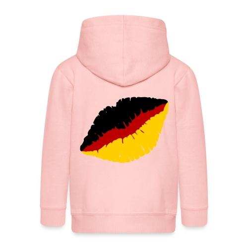 Deutschland Lippen Motiv - Kinder Premium Kapuzenjacke