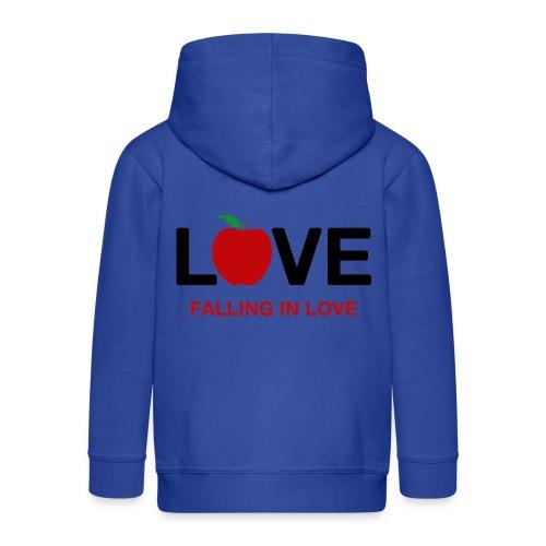Falling in Love - Black - Kids' Premium Hooded Jacket